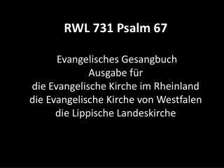 731 Psalm 67
