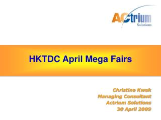 HKTDC April Mega Fairs