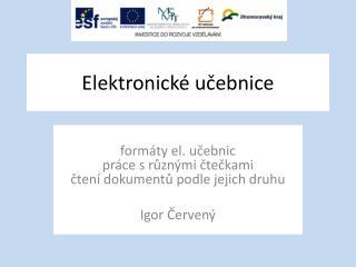 Elektronické učebnice