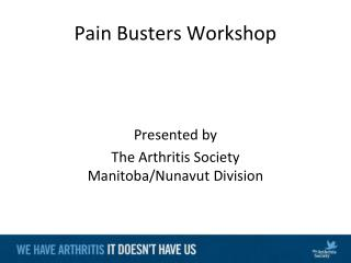 Pain Busters Workshop