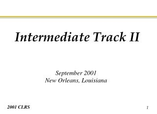 September 2001 New Orleans, Louisiana
