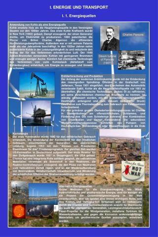 Anwendung von Kohle als eine Energiequelle
