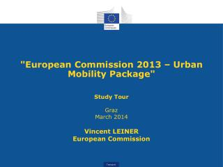 """European Commission 2013 – Urban Mobility Package"""