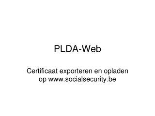 PLDA-Web