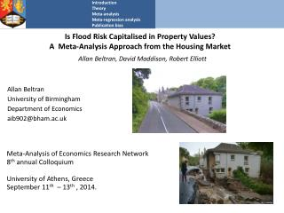 Is Flood Risk  Capitalised  in Property Values?  A  Meta-Analysis Approach from the Housing Market