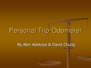 Personal Trip-Odometer