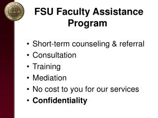 FSU Faculty Assistance Program