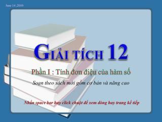 G IẢI TÍCH  12