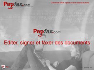 Guide d'utilisation de Popfax