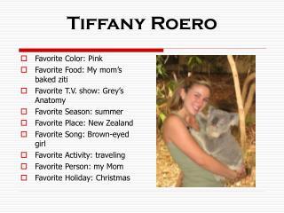 Tiffany Roero