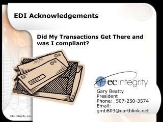 EDI Acknowledgements