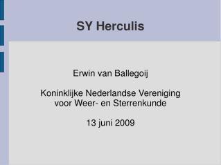 SY Herculis