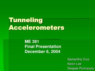 Tunneling Accelerometers
