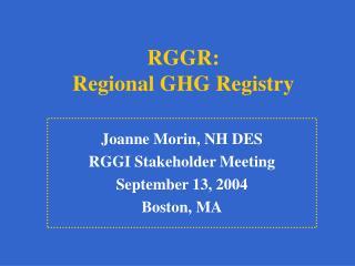 RGGR: Regional GHG Registry