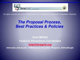 The Proposal Process, Best Practices & Policies