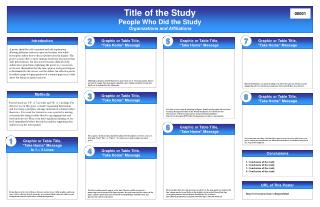 Title of the Study People Who Did the Study Organizations and Affiliations