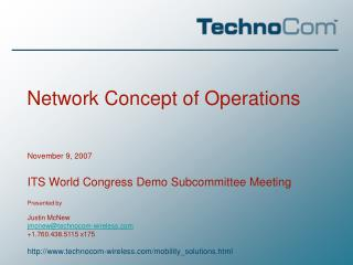 Network Concept of Operations