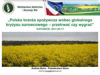 """""""Polska branża spożywcza wobec globalnego kryzysu surowcowego – przetrwać czy wygrać"""""""