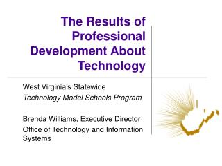 The Results of Professional Development About Technology