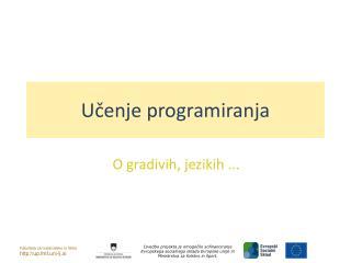 U?enje programiranja