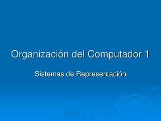 Organizaci�n del Computador 1
