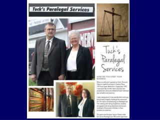 Tuck's Paralegal Services 6835 Hwy 62 North, Bldg 1, Suite 4 Belleville, ON K8N 4Z5