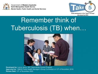 Diagnosis of TB