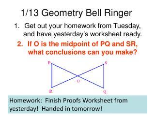 1/13 Geometry Bell Ringer