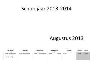 Schooljaar 2013-2014