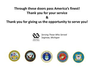 Serving Those Who Served Saginaw, Michigan