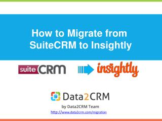 Migrate SuiteCRM to Insightly in a Fully Automated Way