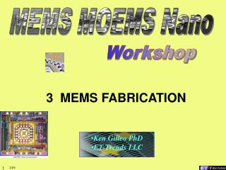 3  MEMS FABRICATION