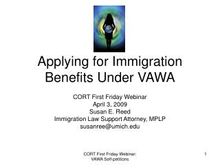 Applying for Immigration Benefits Under VAWA