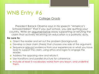 WNB Entry #6