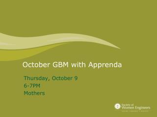 October GBM with  Apprenda