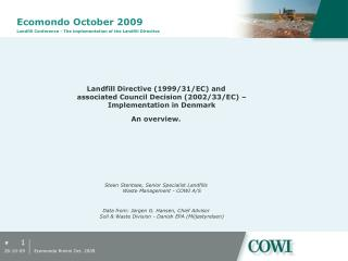 Ecomondo October 2009 Landfill Conference - The implementation of the Landfill Directive