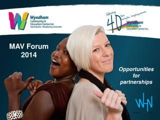 MAV Forum 2014