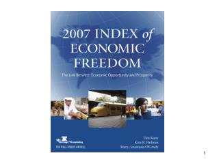 2007 Index of  Economic Freedom