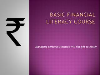 Basic Financial Literacy Course