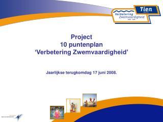 Project 10 puntenplan  'Verbetering Zwemvaardigheid'