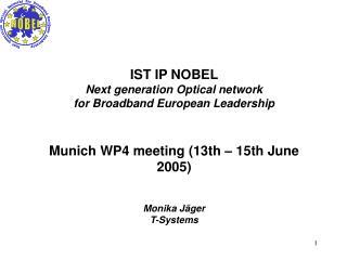 IST IP NOBEL Next generation Optical network for Broadband European Leadership