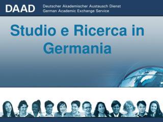 Studio e Ricerca in Germania