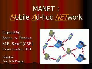 MANET :  Mobile Ad-hoc NETwork
