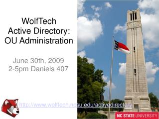 WolfTech Active Directory: OU Administration