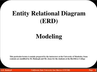Entity Relational Diagram (ERD)  Modeling