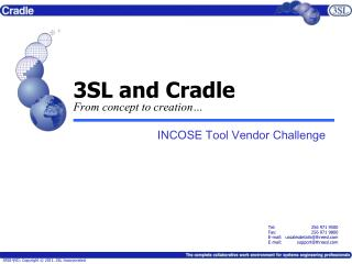 3SL and Cradle From concept to creation…