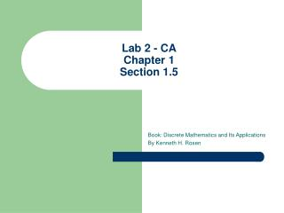 Lab 2 - CA Chapter 1 Section 1.5
