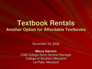 Textbook Rentals Another Option for Affordable Textbooks