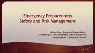ACCIDENT REPORTING AND EMERGENCY PROCEDURES