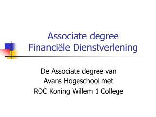 Associate degree  Financiële Dienstverlening